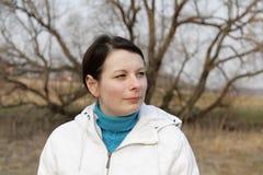 женщина парка осени Стоковые Фотографии RF