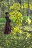 женщина парка Стоковое Изображение RF
