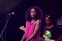 женщина певицы Стоковое Фото