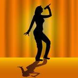 женщина певицы Стоковое Изображение