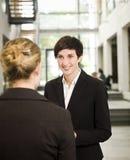 женщина переговора Стоковая Фотография RF
