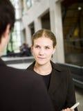 женщина переговора Стоковые Изображения