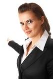 женщина перста дела самомоднейшая указывая сь Стоковая Фотография