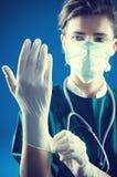 женщина перчаток Стоковое Изображение