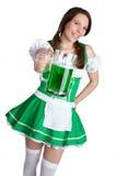 женщина пива зеленая Стоковое Изображение RF