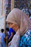 Женщина пилигрима Стоковые Изображения RF