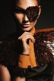 Женщина пирата в кожаном eyepatch Стоковые Изображения RF