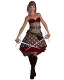 женщина пирата bandana бесплатная иллюстрация