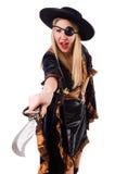 женщина пирата costume Стоковые Фото