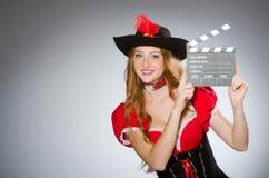 женщина пирата costume Стоковое Изображение