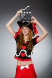 женщина пирата costume Стоковые Изображения RF