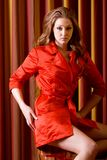 женщина платья красная сексуальная стоковые изображения