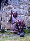 Женщина племени Konso aka Xonsita старшая - 3-ье октября 2012, долина Omo, Эфиопия Стоковые Изображения