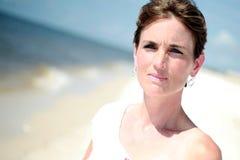 женщина пляжа милая Стоковое Фото