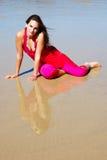 женщина пляжа модельная Стоковое Изображение RF