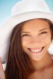 Женщина пляжа ся - этническая девушка Стоковые Фотографии RF