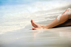 женщина пляжа Стоковое Фото