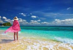 женщина пляжа Стоковое фото RF