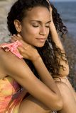 женщина пляжа стоковые изображения