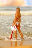 женщина пляжа Стоковая Фотография