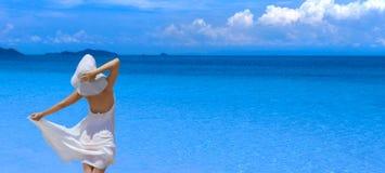 женщина пляжа Стоковые Фото