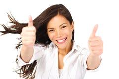 Женщина победителя счастливая с успехом   Стоковое фото RF