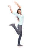 Женщина победителя успеха танцев Стоковая Фотография