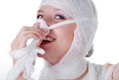 женщина повязки Стоковая Фотография