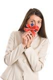 женщина подарка стоковое фото rf