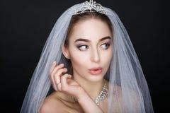 Женщина подготавливает для wedding Стоковые Фото