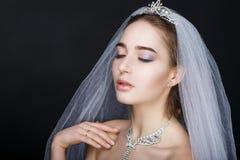 Женщина подготавливает для wedding Стоковое Фото