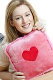 женщина подушки Стоковые Фото