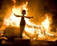 женщина пожара Стоковая Фотография