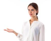 Женщина показывая ей изумление стоковое фото