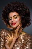 Женщина покрытая с золотом Стоковые Фотографии RF
