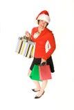 женщина покупателя праздника Стоковая Фотография