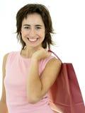 женщина покупкы мешка счастливая Стоковое Изображение RF