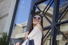 женщина покупкы уклада жизни иллюстрации способа города Стоковое Изображение