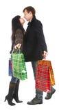 женщина покупкы человека Стоковые Фотографии RF