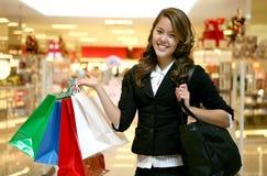 женщина покупкы Стоковое фото RF