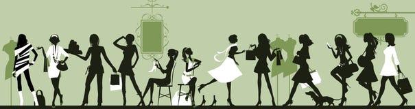 Женщина покупкы. стоковое фото