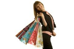 женщина покупкы Стоковое Изображение