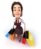женщина покупкы Стоковые Фотографии RF