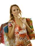 женщина покупкы стоковое фото