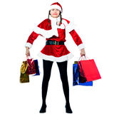 женщина покупкы claus santa рождества Стоковое Фото