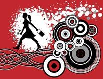 женщина покупкы grunge гуляя бесплатная иллюстрация