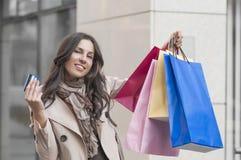 Женщина покупок Стоковые Фото