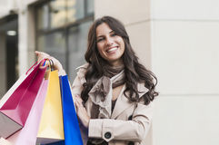 Женщина покупок стоковое фото