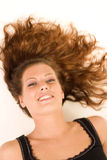 женщина пола лежа Стоковые Изображения RF
