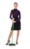 женщина пола чистки Стоковая Фотография RF